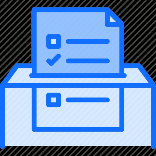 ballot, box, politics, vote, voting icon