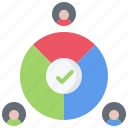 candidate, chart, pie, politics, rating, vote, voting icon