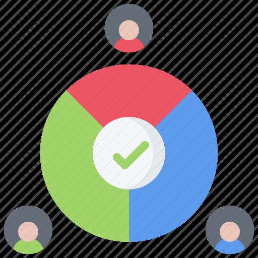 candidate, chart, pie, politics, rating, vote, voting icon