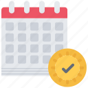 calendar, check, day, election, politics, vote, voting icon