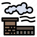 factory, industry, landscape icon