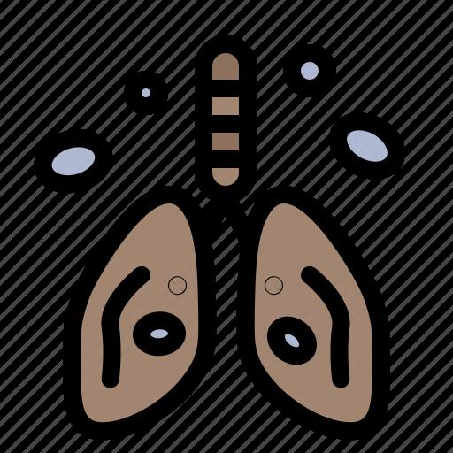 cancer, heart, lung, organ, pollution icon