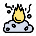 burn, fire, garbage, pollution, smoke icon
