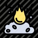 burn, fire, garbage, pollution, smoke