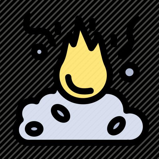 burn, fire, garbage, pollution, smoke icon
