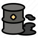 barrels, environment, garbage, pollution icon