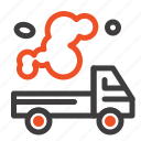 automobile, emission, gas, pollution, truck icon