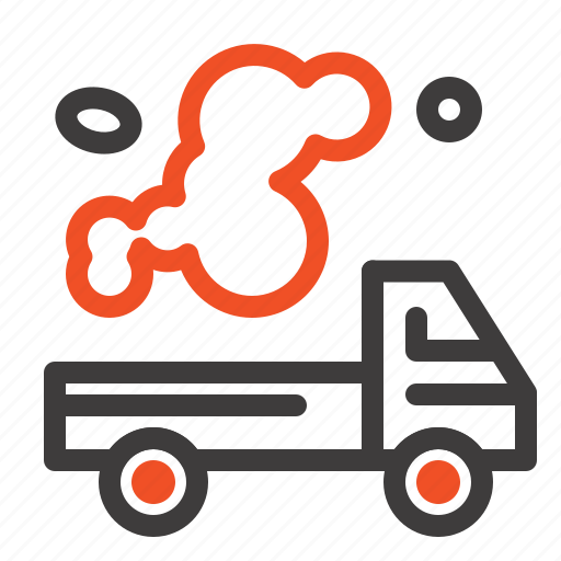automobile, emission, gas, pollution, truck icon