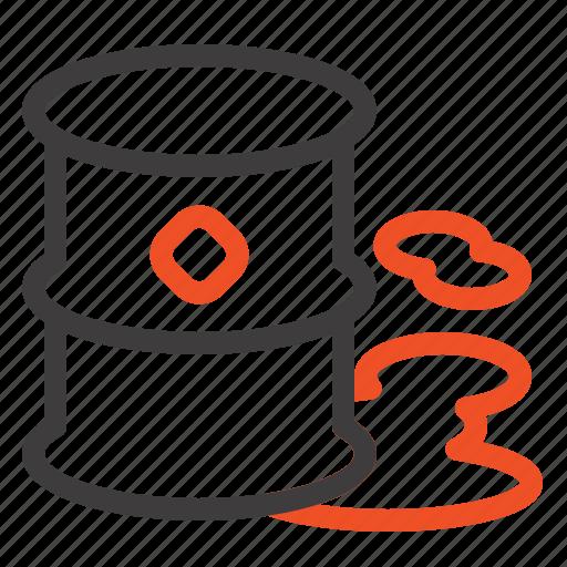 barrels, environment, garbage, pollution icon