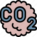 co2, gas, pollution, waste icon