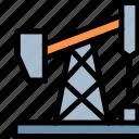 gas, pollution, pumpjack, waste icon