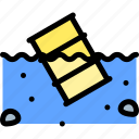 gas, pollution, waste, water icon
