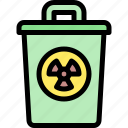 bin, gas, pollution, waste icon