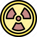 gas, nuclear, pollution, waste icon