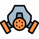 gas, mask, pollution, waste icon