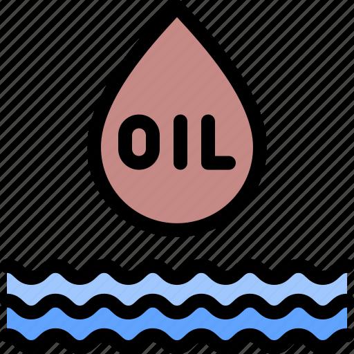 gas, oil, pollution, waste icon