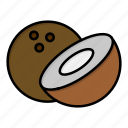 coconut, food icon