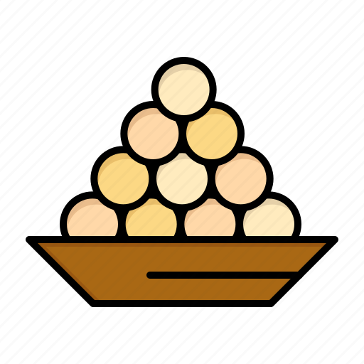 bowl, delicacy, dessert, indian, laddu, sweet, treat icon
