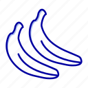 banana, food, fruit icon