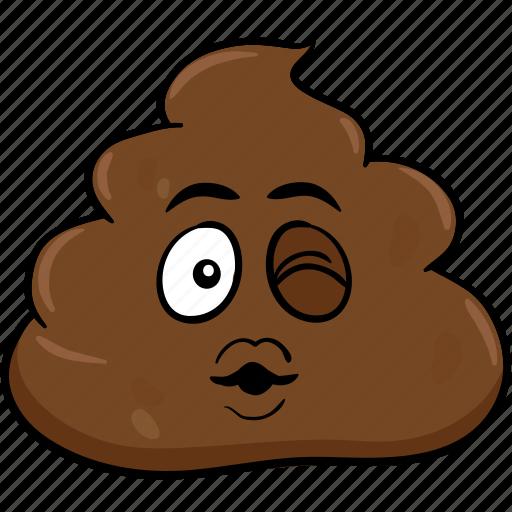 cartoon, emoji, face, poo, pooh, poop icon
