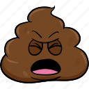 cartoon, emoji, face, poo, pooh, poop icon