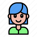 avatar, contact, girl, people, profession, user, woman icon