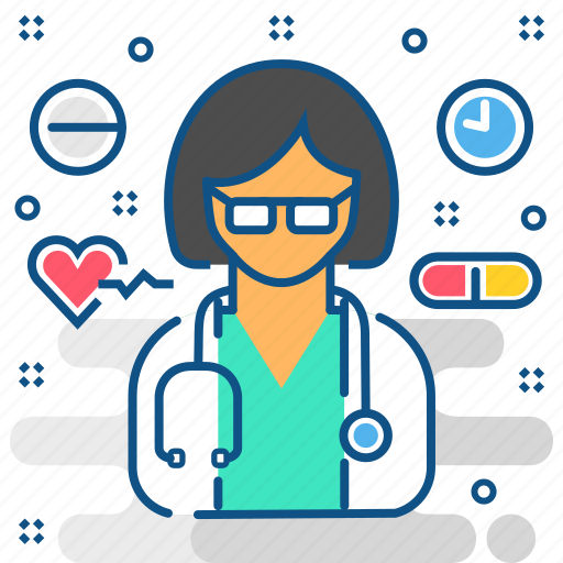 doctor, female, gynecologist, healthcare, medical, medicine, woman icon