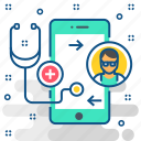 app, communication, healthcare, medical, mobile, smartphone icon