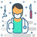 surgeon, doctor, emergency, hospital, medical, operation, surgery icon