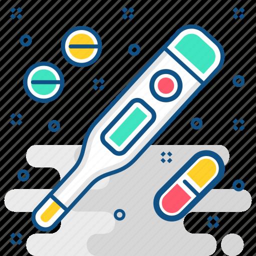 Digital, thermometer, feaver, medicine, temperature icon - Download on Iconfinder