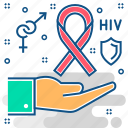 aids, hiv icon