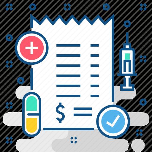 bill, clinic, healthcare, hospital, medical, medicine, pharmacy icon