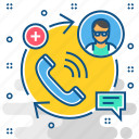 consult, customer, doctor, help, hospital, medical, support icon