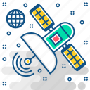communication, connection, network, satellite, space, technology icon