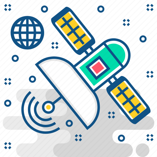 Satellite, space, network, technology, communication, connection icon - Download on Iconfinder