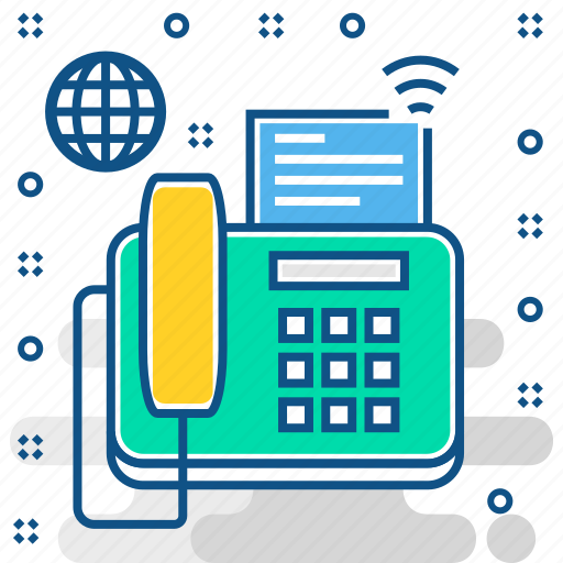 communication, device, fax, phone, technology, telephone icon