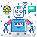 android, artificial, cyborg, machine, robot, robotic, robotics icon