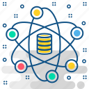 data, cloud, communication, connection, internet, network, server icon