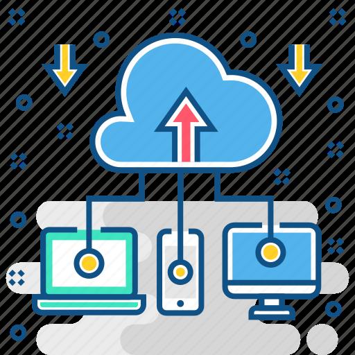 cloud, computing, network, server, service, storage icon
