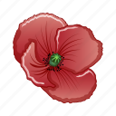 cartoon, day, flower, memorial, poppy, red, remembrance icon