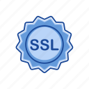 secure sockets layer, security, ssl, ssl badge icon