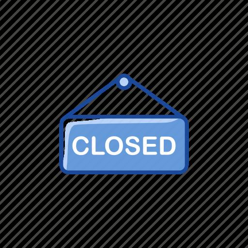 business closed, close, close shop, store closed icon