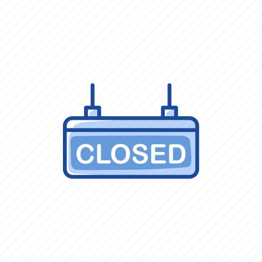 closed, closed sign, store, store closed icon