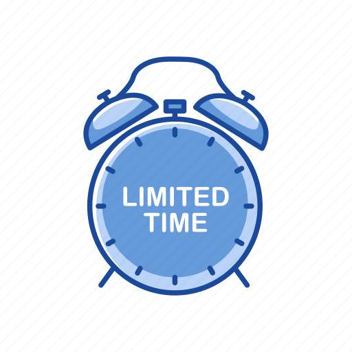 alarm clock, limited edition, limited time, time icon