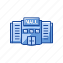 building, mall, shopping center, shopping mall icon
