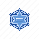 badge, safety security, security, star icon