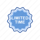 limited edition, limited time, sale, shopping icon