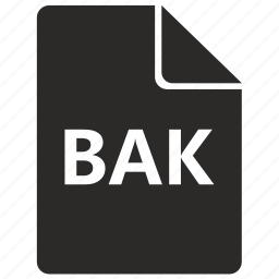 bak, data, document, file, format icon
