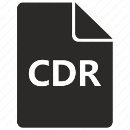 cdr, corel, document, draw, file, format icon