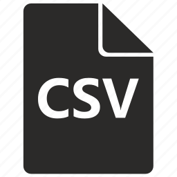 csv, file, format, table icon